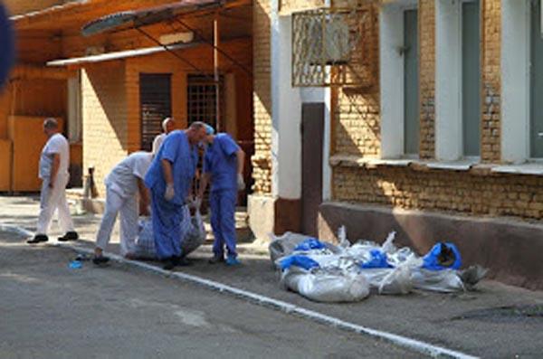 Запорожский морг переполнен телами погибших под Иловайском